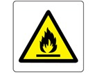 Caution fire risk symbol label.