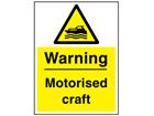 Warning motorised craft sign.