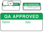 QA approved write and seal labels.