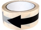 Safety and floor direction tapes, black arrow on white.