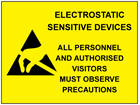 Electrostatic sensitive devices sign.