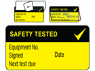 Safety tested jumbo write and seal labels.