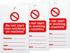 Do not start men working on machine tag.