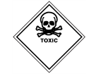 Toxic hazard warning diamond sign