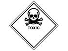 Toxic hazard warning diamond sign