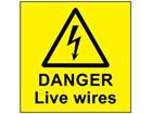 Danger live wires label
