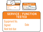 Service function tested jumbo write and seal labels.