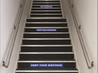Social Distancing Staircase Sign
