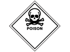 Poison hazard warning diamond sign