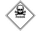 Poison hazard warning diamond sign