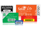 Assetmark destructible serial number label (logo / full design), 19mm x 38mm