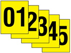 Consecutive number labels, 25mm x 30mm