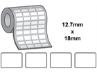 Tamper evident labels, 12.7mm x 18mm