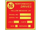 Brass nameplate (1 colour), 73mm x 73mm.