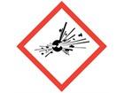 GHS explosive hazard label