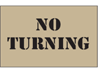 No turning heavy duty stencil