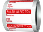 Failed inspection quality assurance label