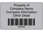 Scanmark foil barcode label (black text), 32mm x 50mm