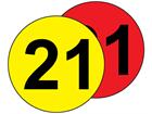 Aisle floor markers, 21