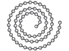 Nickel plated ballchain.