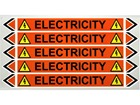 Electricity flow marker label.