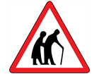 Frail pedestrians likely to cross sign