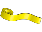 Yellow paper(removable) tape, 62mm x 30.48m (QL printer range)