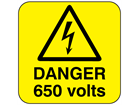 Danger 650 volts