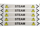 Steam flow marker label.