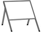 Single sided rectangular frame for housing temporary road sign.