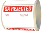 Jumbo QA Rejected label - 250 pack