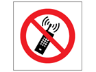 No mobile phones symbol safety sign.