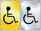 Disabled symbol door sign.