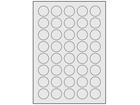 Silver polyester laser labels, 30mm diameter