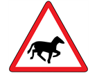 Wild horses or ponies sign