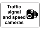 Traffic signal and speed cameras sign