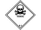 Toxic, class 6.1, hazard diamond label