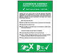 Conserve energy lighting pocket guide.