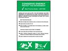 Conserve energy lighting pocket guide.