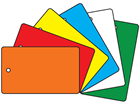 Plain Plastic Tags (Rectangular, 76mm x 127mm)