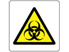 Warning biological hazard symbol label.