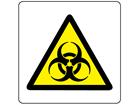 Warning biological hazard symbol label.