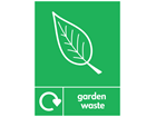 Garden waste WRAP recycling sign.