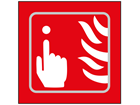 Fire alarm symbol sign.