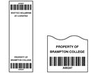 Scanmark cable wrap barcode label (black text), 75mm x 25mm