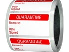 Quarantine quality assurance label