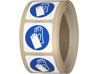 Wear hand protection symbol label.