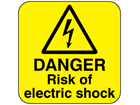Danger risk of electric shock