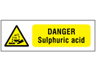 Danger sulphuric acid safety sign.