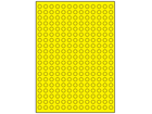 Yellow polyester laser labels, 10mm diameter